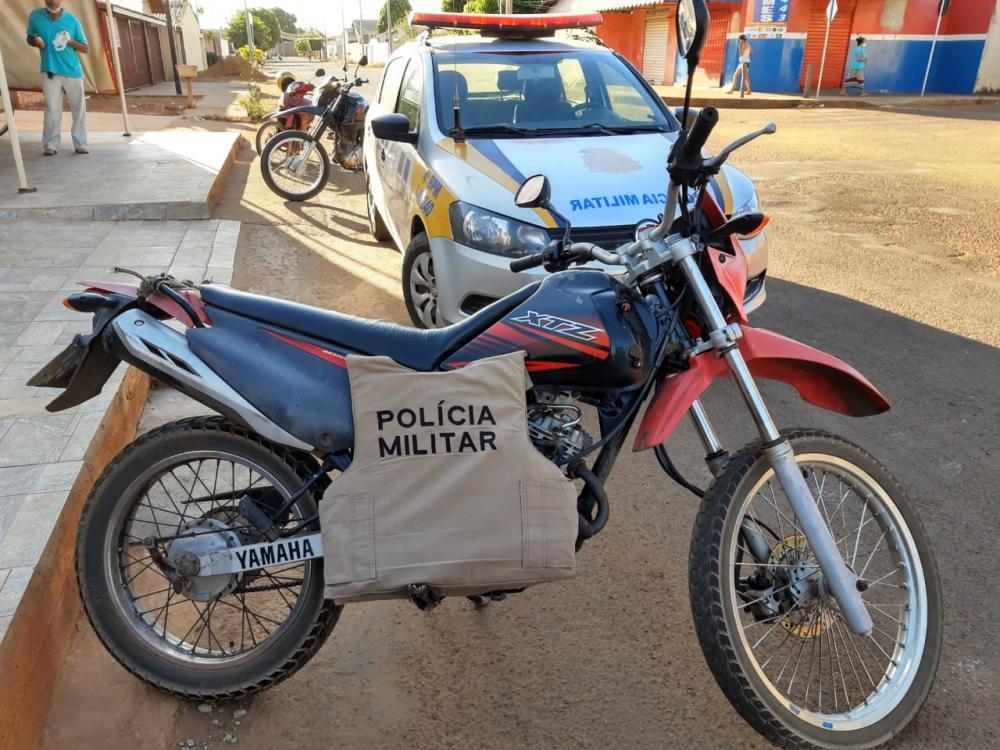 motocicleta recuperada pela PM