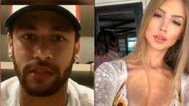 Foto de modelo Sara Hardel foi exibida em matéria de Neymar no Fantástico