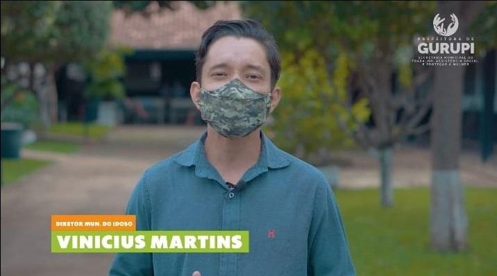 Vinícius Martins é o gestor das políticas públicas para os idosos em Gurupi