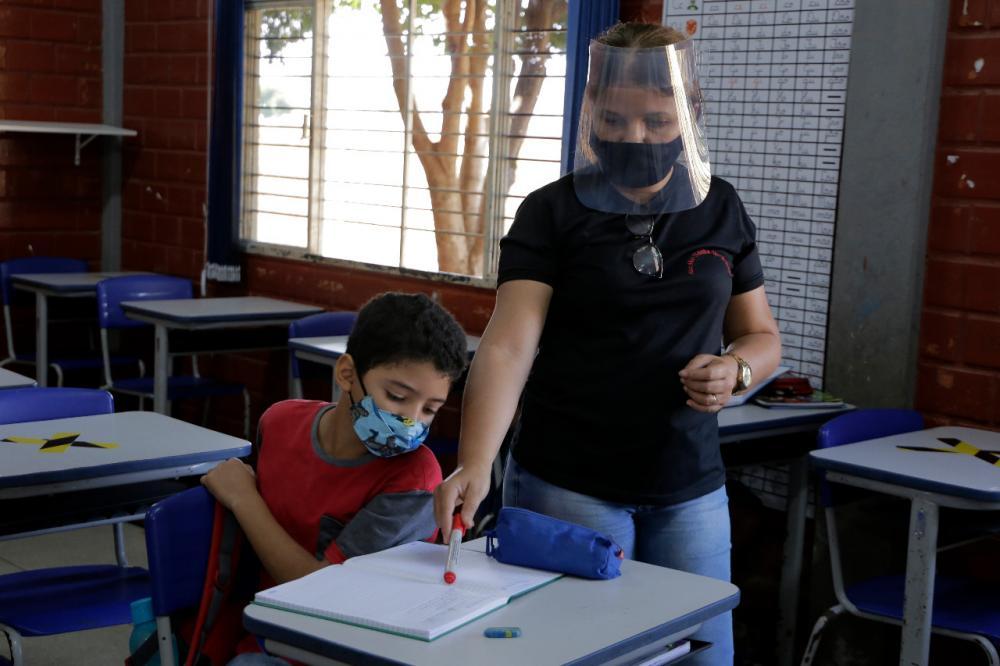 As aulas nas escolas municipais de Gurupi. Foto: Marcos Veloso - Secom Gurupi